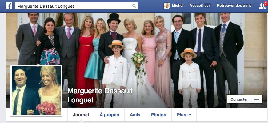 Mariage Dassault Longuet FaceBook