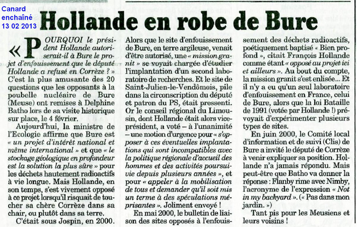 Article Hollande en robe de bure